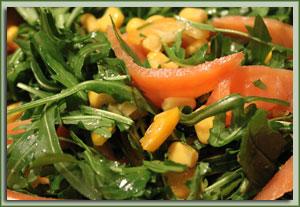 Ruccola-Lachs-Salat